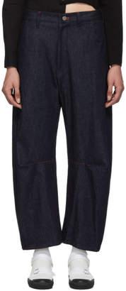 Y's Ys Indigo Wide Gusset Jeans