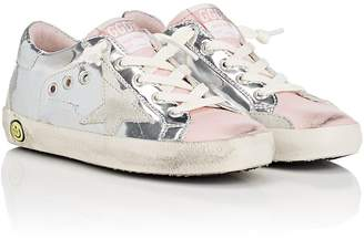 Golden Goose Kids' Superstar Metallic Leather Sneakers