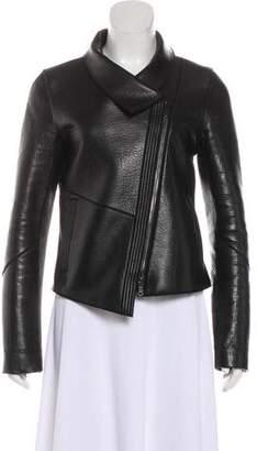 Veronica Beard Asymmetrical Leather Jacket