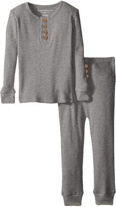 Burt's Bees Baby Organic Henley Pajama Tee and Pant Set, 2 Toddler