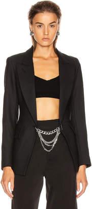 Smythe x Jenny Bird Collab Blazer in Black & Rhodium | FWRD