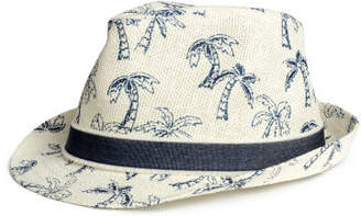 H&M Patterned Straw Hat - White
