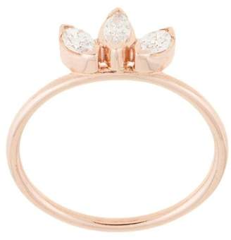 Natalie Marie 14kt rose gold Three Stone Diamond Sun ring