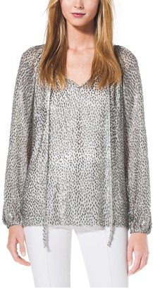 Michael Kors Metallic Velour Fil Coupe Tunic