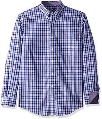 Izod Men's Premium Performance Natural Stretch Plaid Long Sleeve Shirt (Big & Tall and Tall Slim)