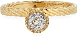 Alor 18k Gold Diamond Circle Ring Size 7