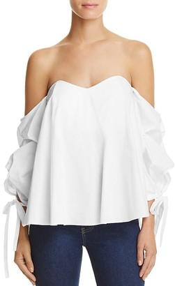 Do and Be Off-the-Shoulder Tie Sleeve Top - 100% Exclusive $72 thestylecure.com