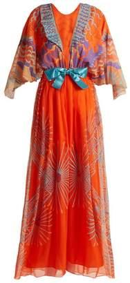 Zandra Rhodes Archive Ii The 1978 Mexican Mountain Gown - Womens - Orange Multi