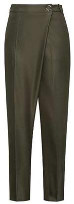 HUGO BOSS Relaxed-fit wrapped trousers in stretch fabric