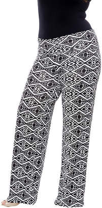 WHITE MARK White Mark Printed Cheetah Palazzo Pants-Plus