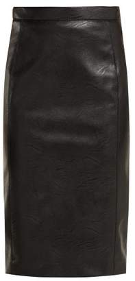 46d5eb31b01bf Stella McCartney Alter Faux Leather And Jersey Pencil Skirt - Womens - Black