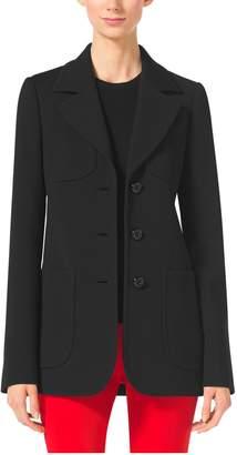 Michael Kors Wool-Crepe Broadcloth Blazer