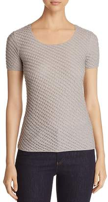 Emporio Armani Textured Knit Stretch Top