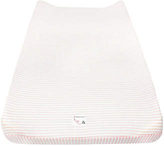 Burt's Bees Bee Essentials Striped Organic Cotton BEESNUG Changing Pad Cover