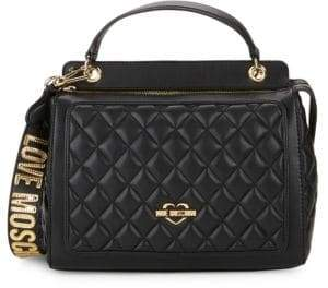 Love Moschino Double Zip Quilted Tote