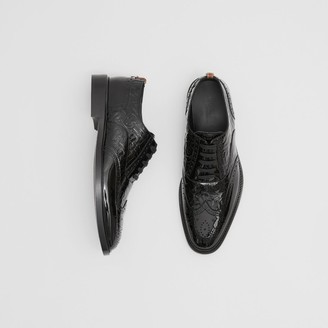 Burberry D-ring Detail Monogram Patent Leather Brogues