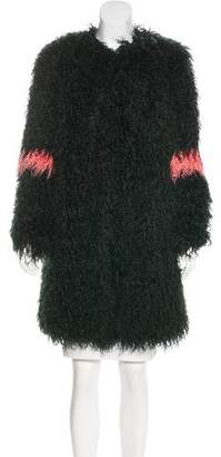 Shrimps Colorblock Faux Fur Coat