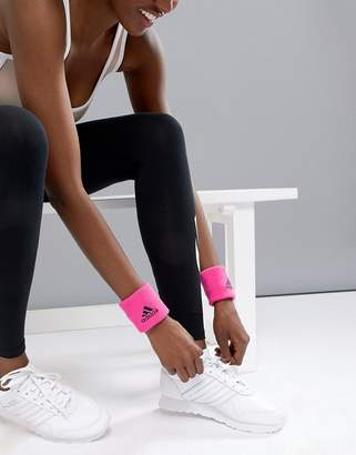 adidas Wristband In Hot Pink