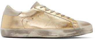 Golden Goose Gold Superstar Skate Sneakers