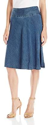 Nic+Zoe Women's Denim Summer Fling Flirt Skirt