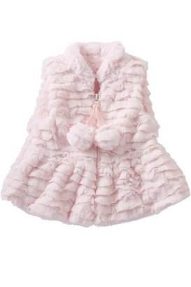 Mud Pie Pink Fur Vest