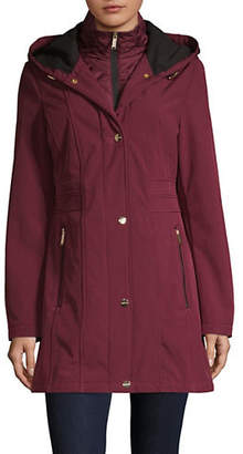 London Fog Stand Collar Hooded Jacket