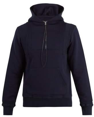 Alexander McQueen Seamed Hooded Zip Up Sweatshirt - Mens - Navy Multi