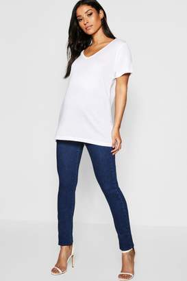 boohoo Maternity Over The Bump Stretch Skinny Jeans