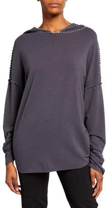 Made on Grand Topstitched Patchwork Sweatshirt