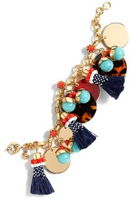 Women's J.crew Fun Tassel Charm Bracelet $48 thestylecure.com