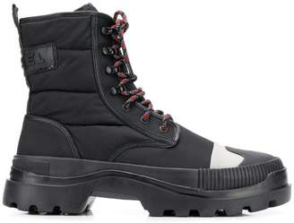 Diesel hybrid lace-up boots with lug sole