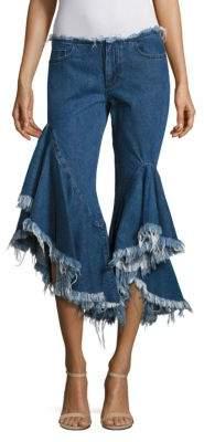 Marques Almeida Marques'Almeida Frayed Denim Capri Jeans