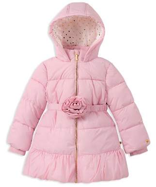 Kate Spade Girls' Rosette Puffer Jacket - Little Kid