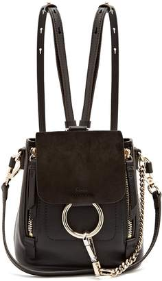 Chloé Faye suede and leather mini backpack