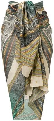 Parah Pareo patterned pashmina