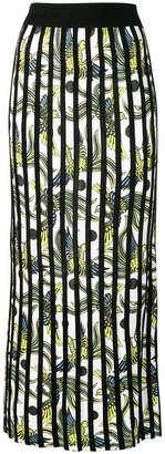 Kenzo stripe appliqué midi skirt