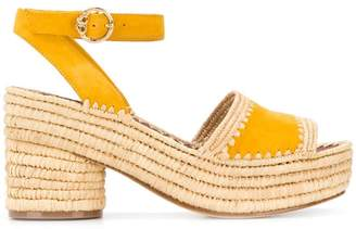 Tory Burch straw platform sole sandals