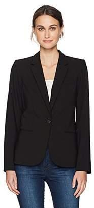 Calvin Klein Women's One Button Lux Jacket with Three Pockets