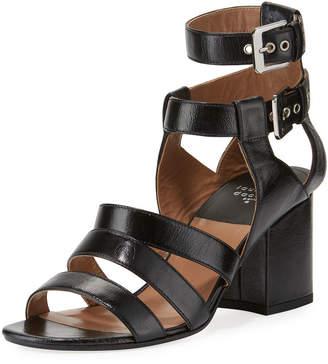 Laurence Dacade Rela Strappy Leather Block-Heel Sandal