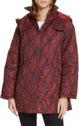 Cinq à Sept Nico Floral Print Hooded Jacket