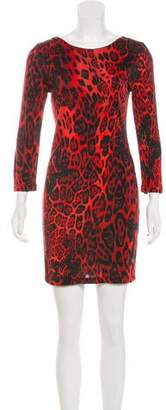 Philipp Plein Mini Leopard Print Dress