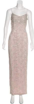 Marchesa Lace Evening Dress