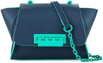 Zac Posen Eartha Iconic Mini Neon Satchel Bag, Dark Blue