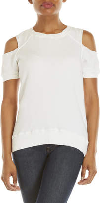Pam & Gela Cold Shoulder Short Sleeve Sweatshirt