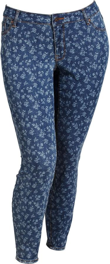 Old Navy Women's Plus The Rockstar Floral Printed Jeans