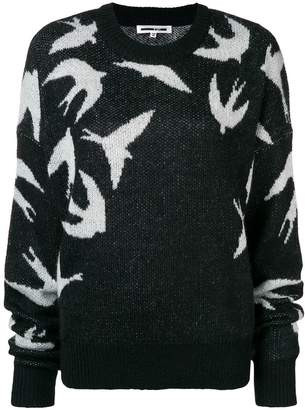 McQ Swallow intarsia knit sweater