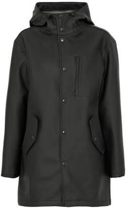 Alexander Wang Embossed Faux Leather Hooded Jacket