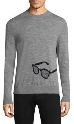 Paul Smith Sunglasses-Embroidered WoolSweater