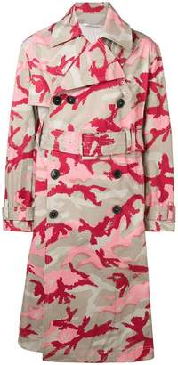 Valentino camouflage trench coat