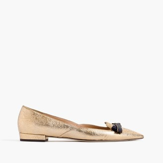 Metallic pointed-toe loafers $178 thestylecure.com